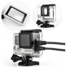 Harga Termurah Protective Case Side Hole For Gopro 4 Black