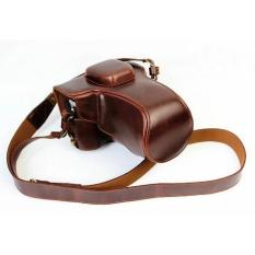 Pelindung Case Kulit & Tangan With Tali Bahu For Olympus OM-D E-M5 EM5II EM-5 Mark II Kamera Digital With 16- 50mm Lensa OSS (kopi) -Internasional