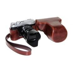 Pelindung Kulit PU Berkualitas Tinggi Tas Kamera Coverforfujifilm XE1 XE2 (Kamera Tidak Termasuk) Kopi-Internasional