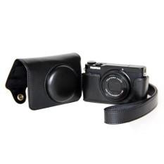 Pelindung Kulit PU Berkualitas Tinggi Tas Kamera Coverforfujifilm XQ1 XQ2 (Kamera Tidak Termasuk) Hitam-Internasional