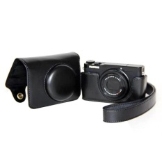 Pelindung Berkualitas Tinggi PU Leather Camera Case Bag Cover ForFujifilm XQ1 XQ2 (Kamera Tidak Termasuk) Warna Hitam-Intl