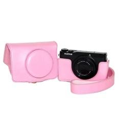 Pelindung Kualitas Tinggi Pu Sarung Kamera Kulit Penutup Tas Forfujifilm XQ1 XQ2 (Kamera Tidak Termasuk) Berwarna Merah Muda-Internasional