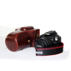 Pelindung PU Leather Bag Bag Cover dengan Tripod Mount untuk Canon EOS-100D (Kamera Tidak Termasuk) Kopi-Intl