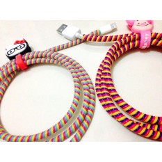 Protector Cable Charger Spiral - Pelindung Kabel 3 Warna - 1 Pcs - Random Colour