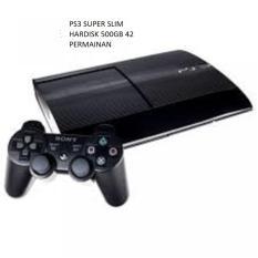 ps 3 super slim hdd 500gb, free game terbaru, optik masih lancar