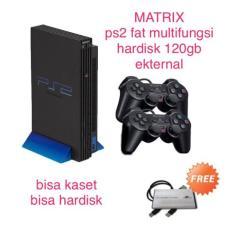 PS2 Fat Multifungsi Hardisk Ekternal 120Gb Ekternal Dan Kaset MATRIX