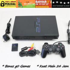 PS2 Paket Lengkap - Sony Playstation Fat HDD 60GB + Free 2 Stik - 90 Games Terbaru - Grade A