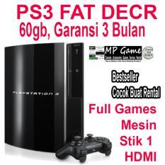 PS3 FAT DECR 60GB Garansi 3 Bulan rekomen untuk rental