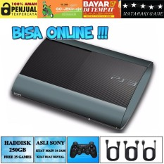 PS3 ONLINE - SONY Playstation 3 SUPER SLIM 250GB - FIRMWARE ORI/OFW - Grade A