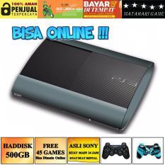 PS3 ONLINE - SONY Playstation 3 SUPER SLIM 500GB - FIRMWARE ORI/OFW - 2 STIK - Grade A