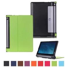 PU dan Plastik dengan Touch-Pen dan Film dan Kain Pembersih Set untuk Lenovo YOGA Tab 3 YT3-X50F 10.1 Inch (Hijau)
