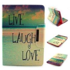 PU Folio Leather Case Protective Cover Stand for Apple iPad mini 4(Sea & Letter) -3# - intl