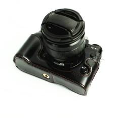 PU Leather Camera Bottom Case with strap Half Body Set Cover ForFujifilm Fuji XT1 X-T1 XT-1  - intl