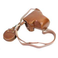 Harga Pu Leather Camera Case Bag Cover Pembukaan Bawah Untuk Canon Eos M6 Eosm6 Kamera 15 45Mm Lens Intl Oem Tiongkok