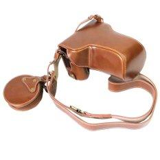 PU Leather Camera Case Bag Cover Pembukaan Bawah untuk Canon EOS M6 EOSM6 Kamera 55-200mm Lensa- INTL