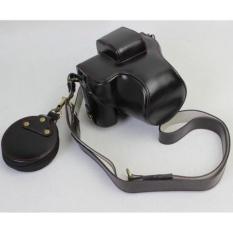 Pu Sarung Kamera Kulit Penutup Tas Bawah Pembukaan untuk Canon EOSM5EOSM5 Camera (Hitam)-Intl