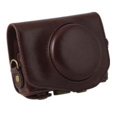 PU Leather Camera Case Bag Cover untuk Canon G7X 1 Digital dengan Strap-Intl