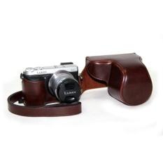 PU Leather Camera Case Bag Cover Tripod Desain WithShoulderStrapforPanasonic Lumix Gx7 (Kopi)-Intl