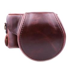 PU Leather Camera Case Bag Cover dengan Tali Bahu untuk Canon EOS M/EOS M2 Kopi (Kamera Tidak Termasuk)