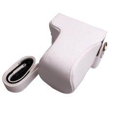 Promo Pu Leather Camera Case Bag Cover Dengan Tali Bahu Untuk Canon Eos M10 Eos M2 Eos M Kamera Tidak Termasuk Intl Murah