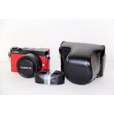 PU Leather Camera Case Bag Cover dengan Tali Bahu untuk PanasonicLumix GM1/GM1s/GM2/GM5-Intl