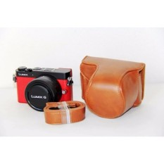 PU Leather Camera Case Bag Cover with Shoulder Strap for PanasonicLumix GM1/GM1s/GM2/GM5 - intl