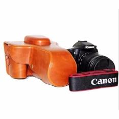 PU Leather Bag Bag Cover dengan Tripod Desain untuk Canon EOS 60D/70D-Intl