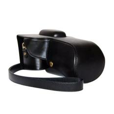 PU Leather Bag Bag Cover dengan Tripod Desain untuk NikonD5300/D5200/D5100 (Hitam)-Intl