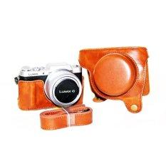 Review Pu Leather Camera Case Bag Untuk Lumix Dmc Gf8 Gf7 Lumix Gf8 Gf7 Dengan Tali Bahu 12 32Mm Lensa Intl Tiongkok