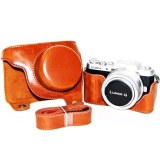 Review Terbaik Pu Leather Camera Case Bag Untuk Lumix Dmc Gf8 Gf7 Lumix Gf8 Gf7 Dengan Tali Bahu 12 32Mm Lensa Intl