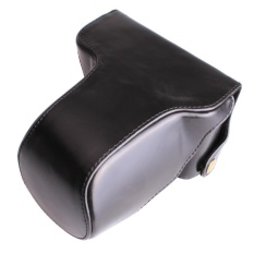 PU Leather Camera Case Cover Bag Selempang Kamera Strap untuk Fujifilmxm1xa1 XA2 XA10 X-M1 X-A1 X-A2 X-a10 16-50mm Lensa Digital Camerabag-Intl