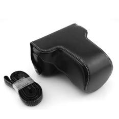 PU Leather Camera Hard Cover Tas Tas Pelindung untuk FinepixFujiFujifilm X-M1 X-A1 XM1 XA1 XA2 16-50mm Lensa. Warna: Hitam-Intl