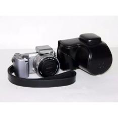 PU Leather Camera Holster Photo Shoulder Bag Case Cover For SonyNEX5R NEX5T NEX-5R NEX-5T  - intl