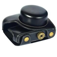PU Kulit Kamera Tas Video Kemasan + Bahu Strapforpanasonic GF7 GF8 (Hitam)-Internasional