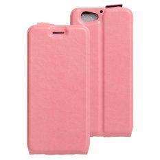 PU Leather Case Kartu Slot Flip Pouch Cover untuk HTC One A9s-Pink-Intl