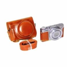 PU Leather Case Digital Tas Kamera untuk Canon G9X PowerShot G9X WithStrap-Intl