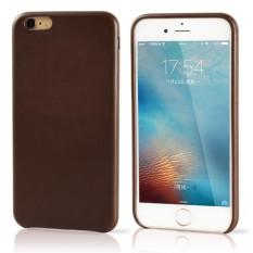 PU Leather Case untuk IPhone 6/6 S Plus 5.5 Inch Asli Copy Back Cover (Brown)