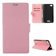 PU Kulit Kasus untuk Alcatel OneTouch Pixi 4 PLUS Power-Pink-Intl