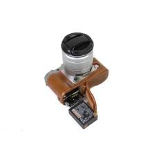 PU Kulit Sarung Tas Kamera Bawah Set Badan Set Sarung Forfujifilm Fuji X-A3 XA3 XA10 dengan Bukaan Bawah- internasional