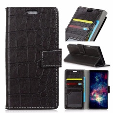 PU Leather Crocodile Pattern Wallet Case Cover for Alcatel One Touch Idol 5S 5.2 (Black) - intl