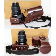 PU Kulit Sarung Kamera Digital Penutup Tas untuk NikonDSLRSLRD3200D3100 Kopi (Intl)-Intl