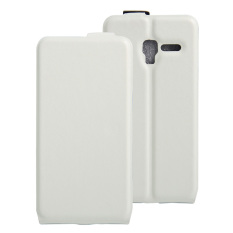 PU Leather Flip Cover Case For Alcatel One Touch Pop 3 (5) 5.0 Inch / Pixi 3 5.0 Inch (White)