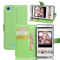 PU Leather Flip Cover Case untuk Alcatel Pixi 4 PLUS Power (hijau)-Intl