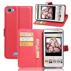 PU Leather Flip Cover Case untuk Alcatel Pixi 4 PLUS Power (Merah)-Intl