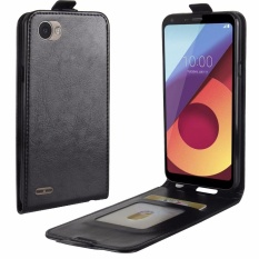 PU Leather Flip Cover Case untuk LG Q6/Q6 Plus (Hitam)-Intl