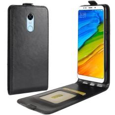 PU Leather Flip Cover Case for Xiaomi Redmi 5 Plus (Black)
