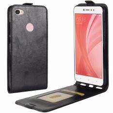 PU Leather Flip Cover Case for Xiaomi Redmi Note 5A / Redmi Note 5A Prime (Black)