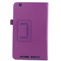 PU Leather Flip Cover For Acer Iconia One 8 B1-810 (Ungu)-Intl