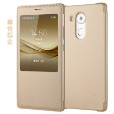 PU Kulit Flip Smart Phone Cover Case untuk HUAWEI Mate 8 (Multicolor)