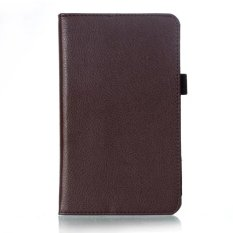 PU Leather Folio Case Cover For Huawei MediaPad M2 7.0 (Brown)
